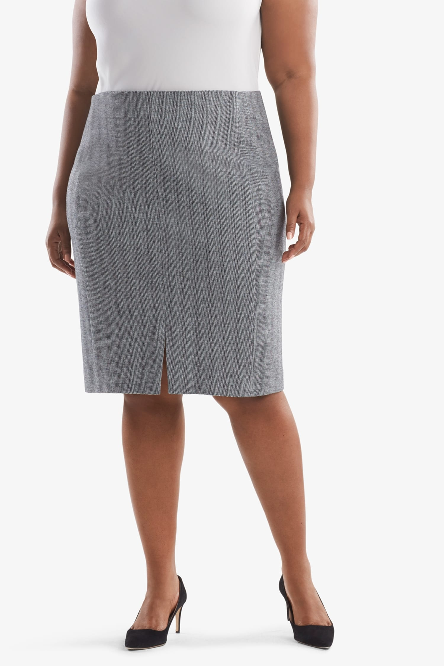 9b513d5d641 Greenpoint Skirt—Zip Jacquard - White / Black | MM.LaFleur
