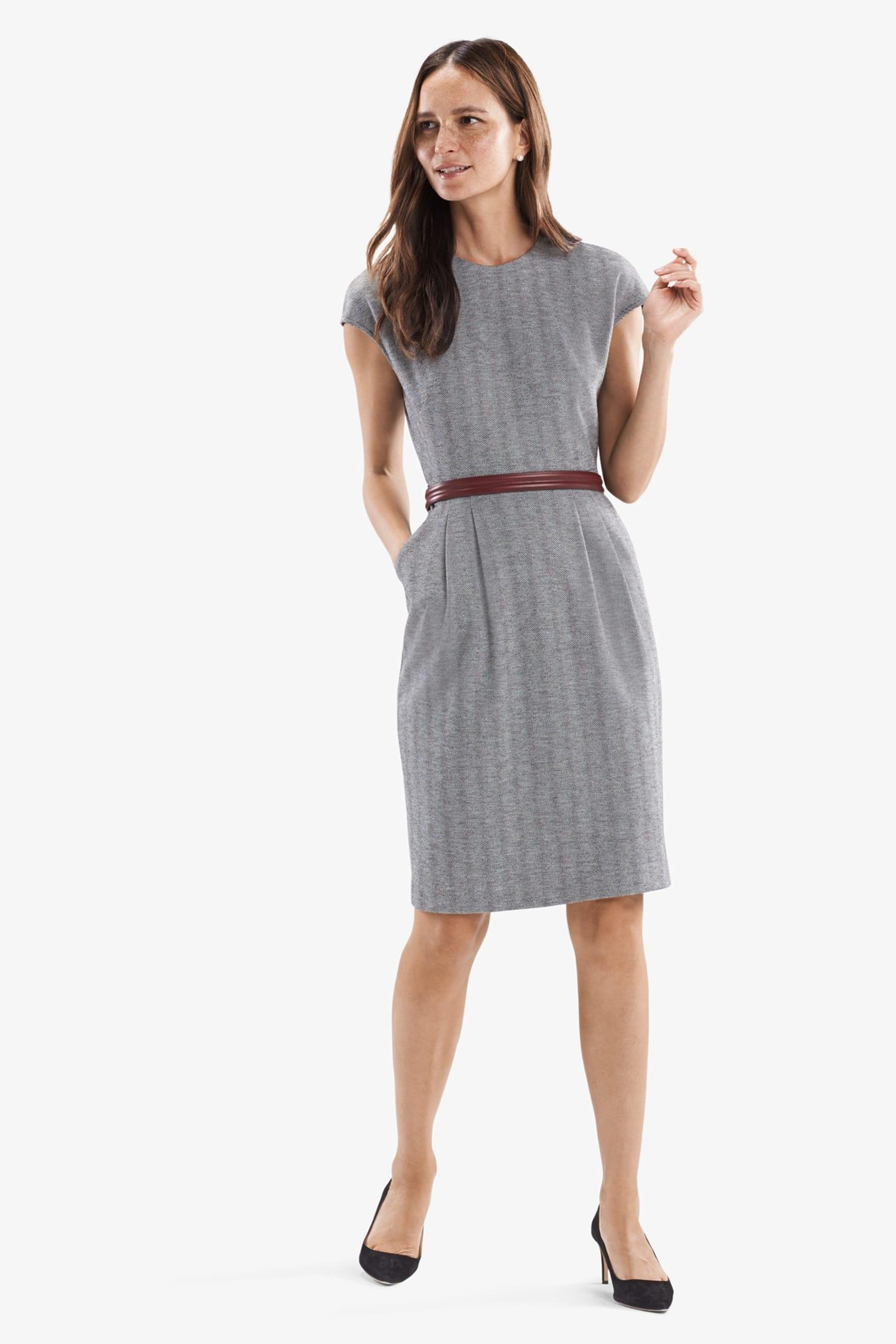 c0e46d182cf Masha Dress—Zip Jacquard - White / Black | MM.LaFleur