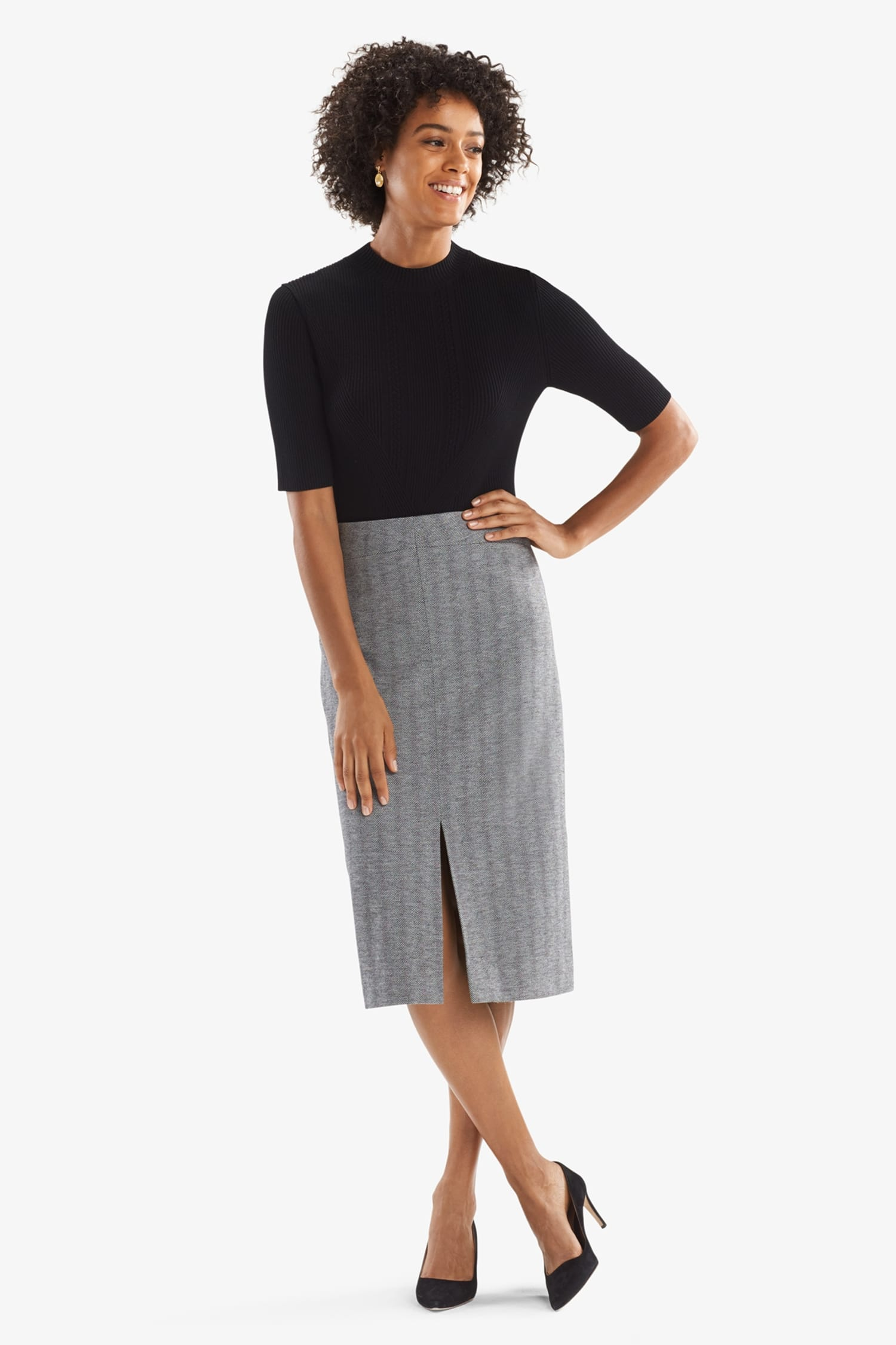 f9877112a49 Morton Skirt—Zip Jacquard - White/Black | MM.LaFleur