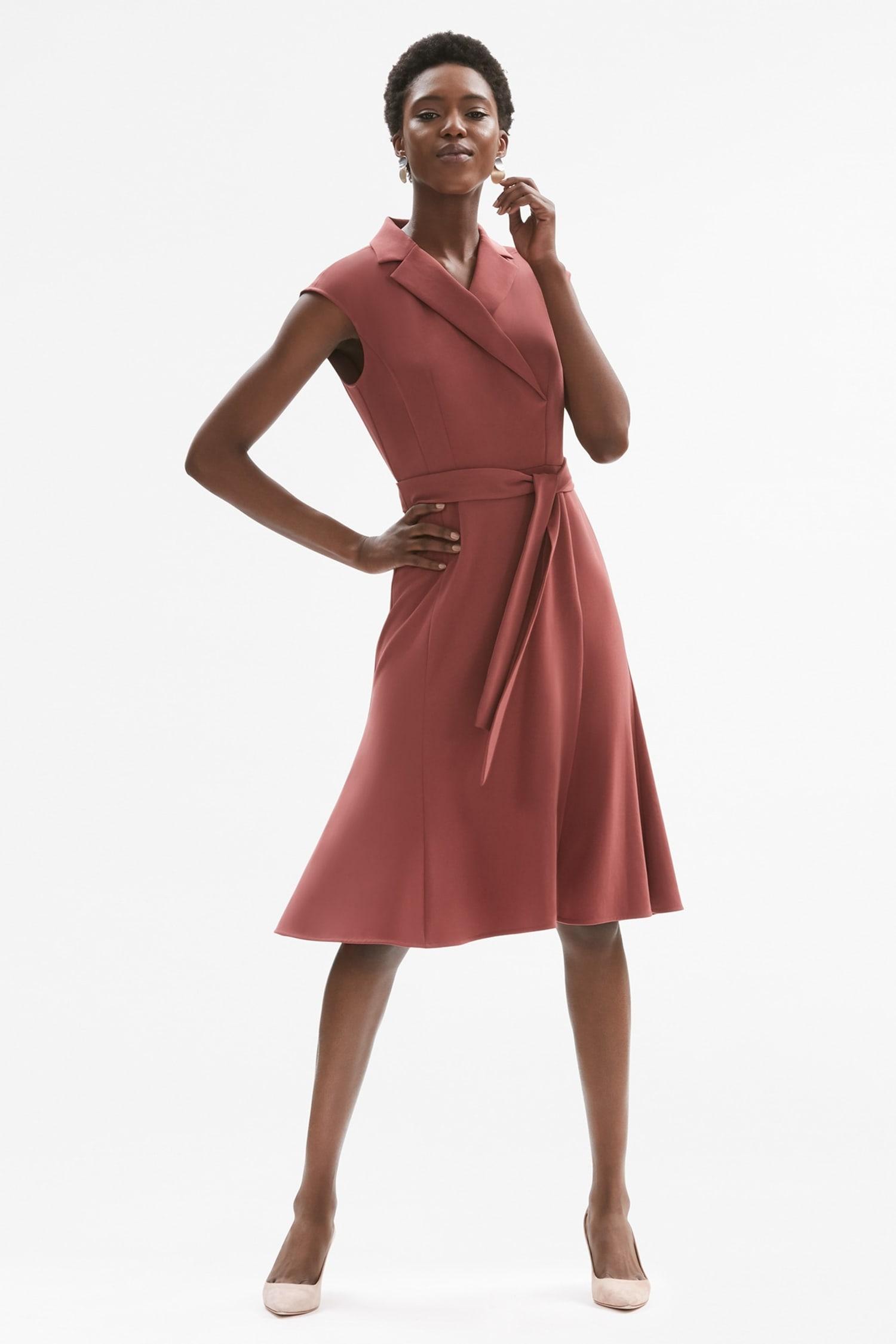 f6b546d58d Isabelle Dress - Brick Red   MM.LaFleur