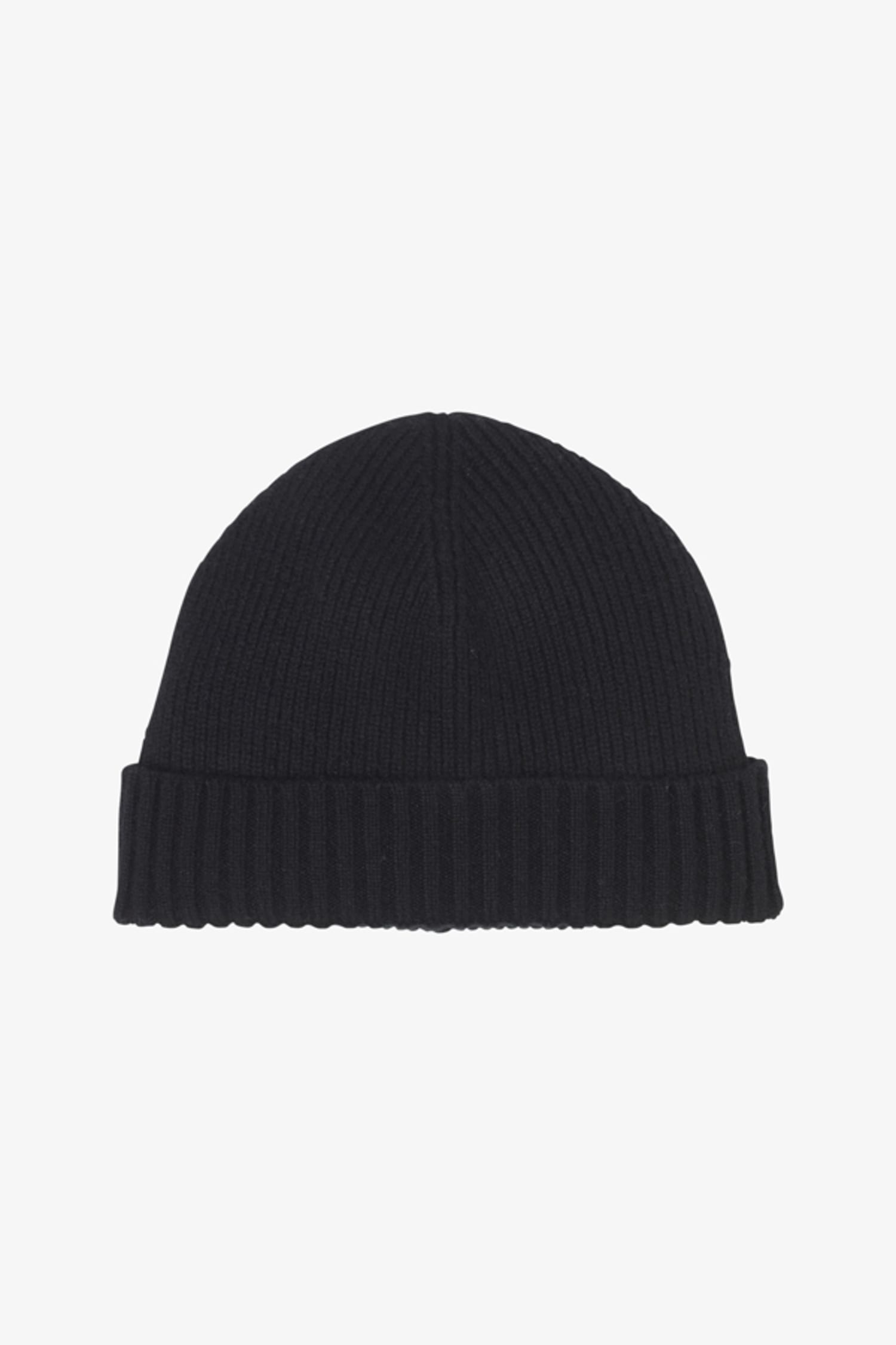 Cashmere Ribbed Hat    Black 1 8bc19df7067