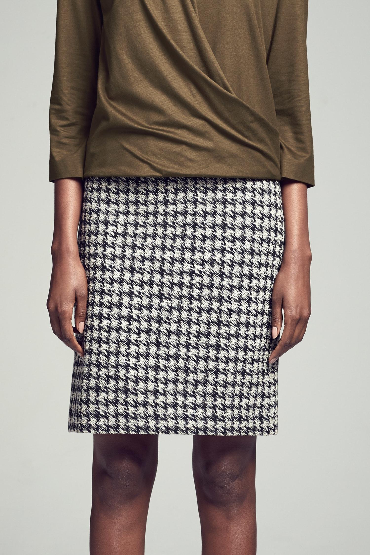 b438e77e7d Noho Skirt—Modern Houndstooth :: Black / Sand 1