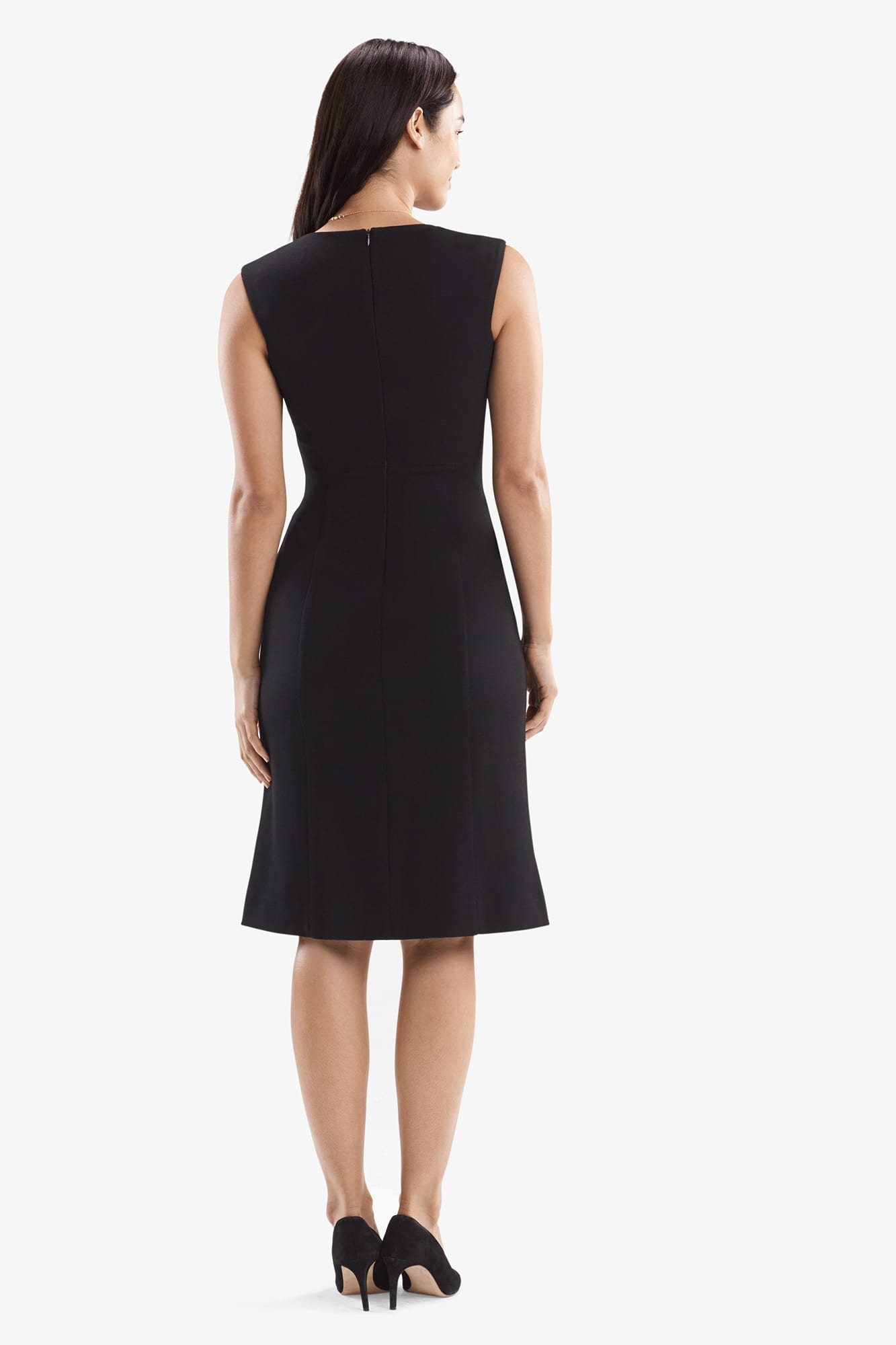 Evelyn Dress Textured Ponte Black M M Lafleur