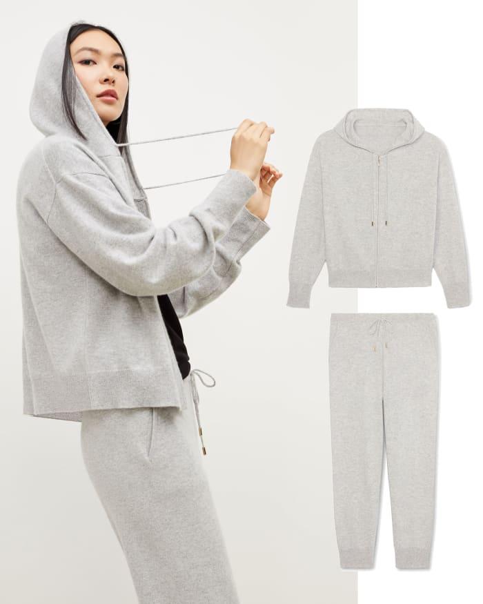 cashmere sweat suit set