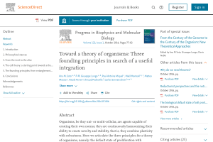 Toward a theory of organisms: Three founding principles in search of a useful integration