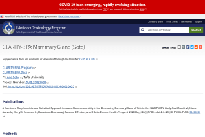 NTP. CLARITY-BPA. Chemical Effects in Biological Systems (CEBS): Mammary Gland