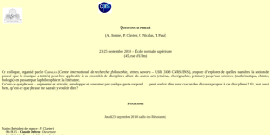 "Cover slide from the talk ""Géométrie du temps biologique : rythmes et protension"""