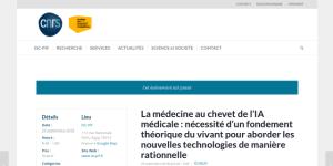 """Cover slide from the talk """"Approche théorique des organismes pour la médecine"""""""