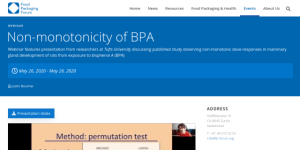 """Cover slide from the talk """"Non-monotonicity of BPA"""""""