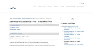 """Cover slide from the talk """"Repenser la modélisation à l'aune de l'historicité des phénomènes vivants"""""""