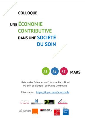 """Cover slide from the talk """"Colloque: Une économie contributive dans une société du soin"""""""