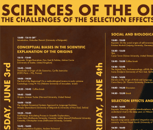 """Cover slide from the talk """"Historical origins and the theoretical definition of objects in biology"""""""