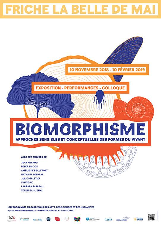 """Cover slide from the talk """"Table ronde « Enjeux politiques et écologiques du biomorphisme »"""""""