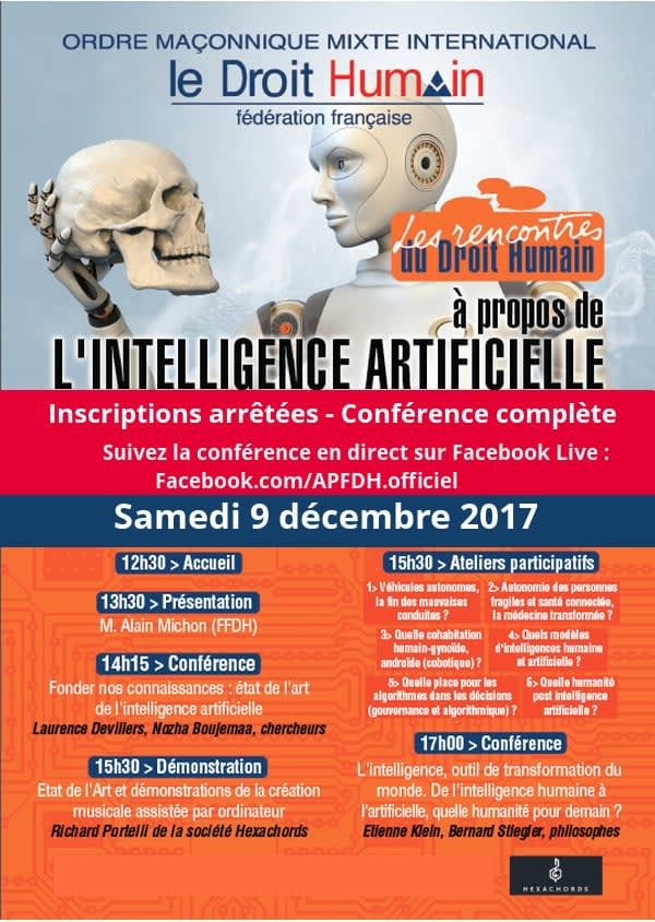 """Cover slide from the talk """"Pour un usage raisonné des algorithmes d'intelligence artificielle"""""""