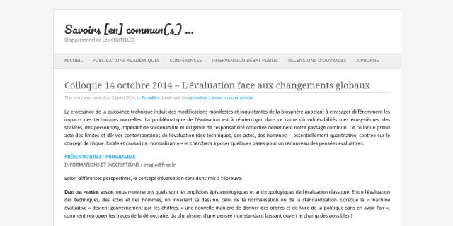 """Cover slide from the talk """"Aléatoire, historicité et complexité biologique"""""""