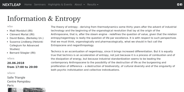 """Cover slide from the talk """"Entropy and functions"""""""