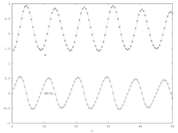 Demographic dynamics in the second order model (equation 2).
