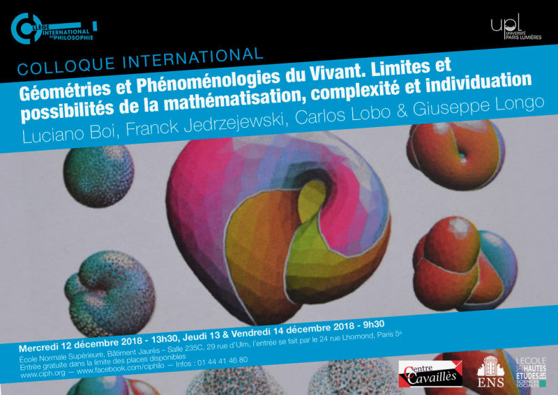 """Cover slide from the talk """"Historicity at the Heart of Biology: a Challenge for Mathematical Thinking"""""""