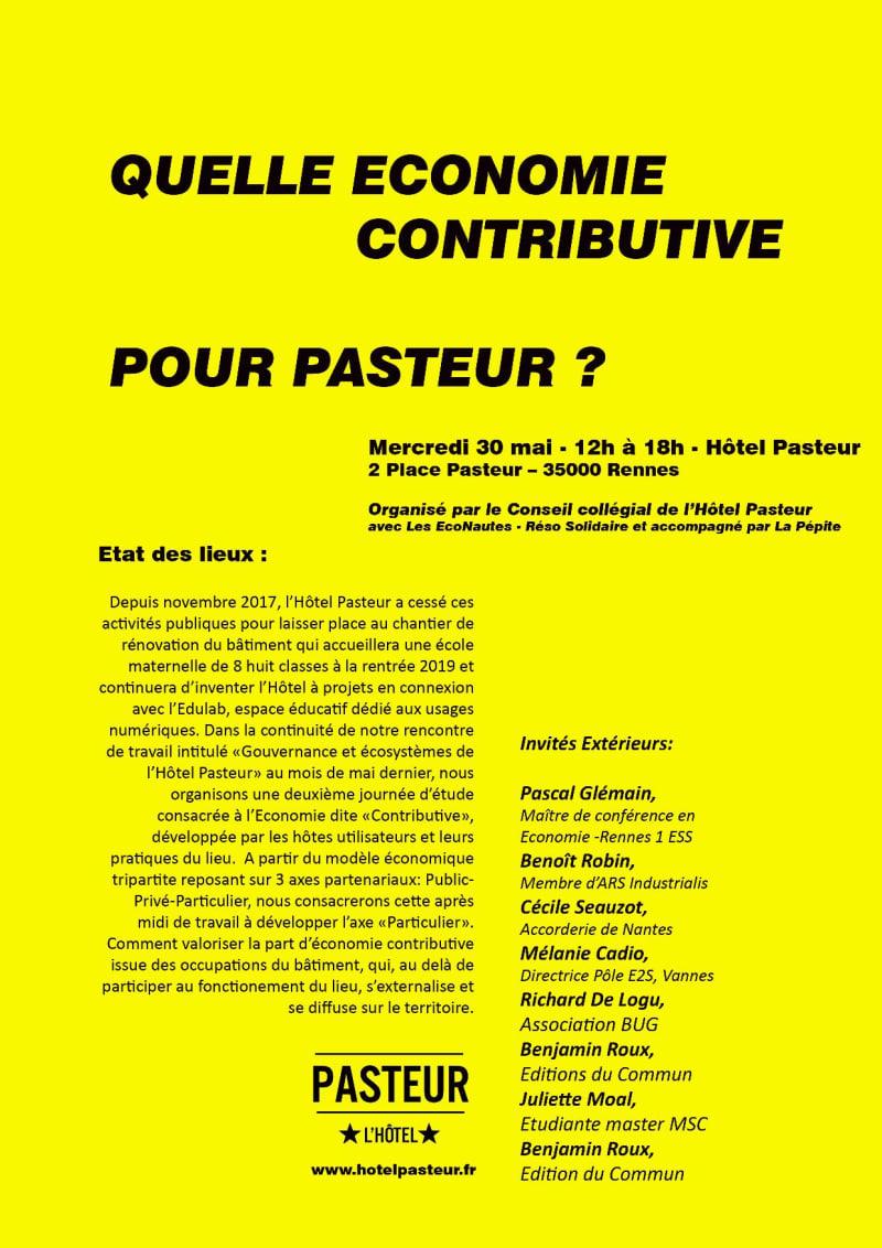 """Cover slide from the talk """"Le projet d'économie contributive à Plaine Commune"""""""