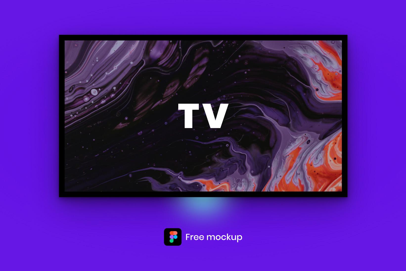 Free TV Mockup for Figma