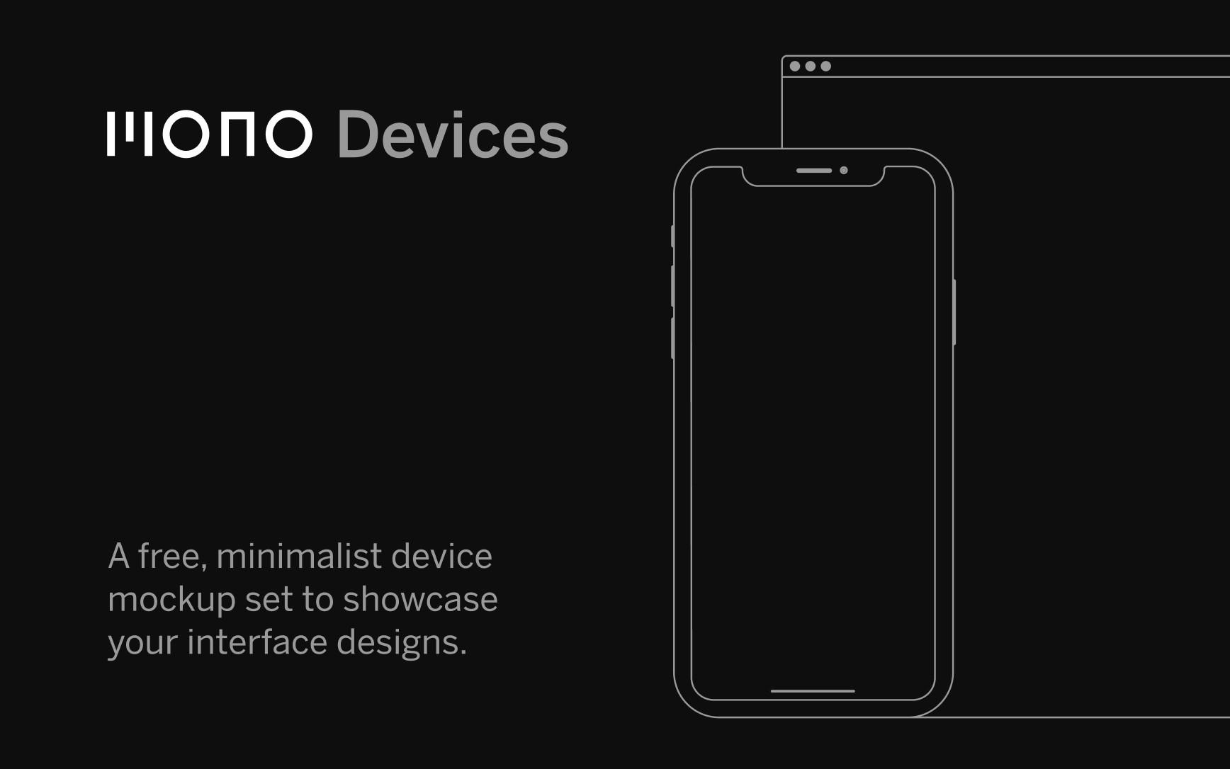 Mono Device Mockups for Figma