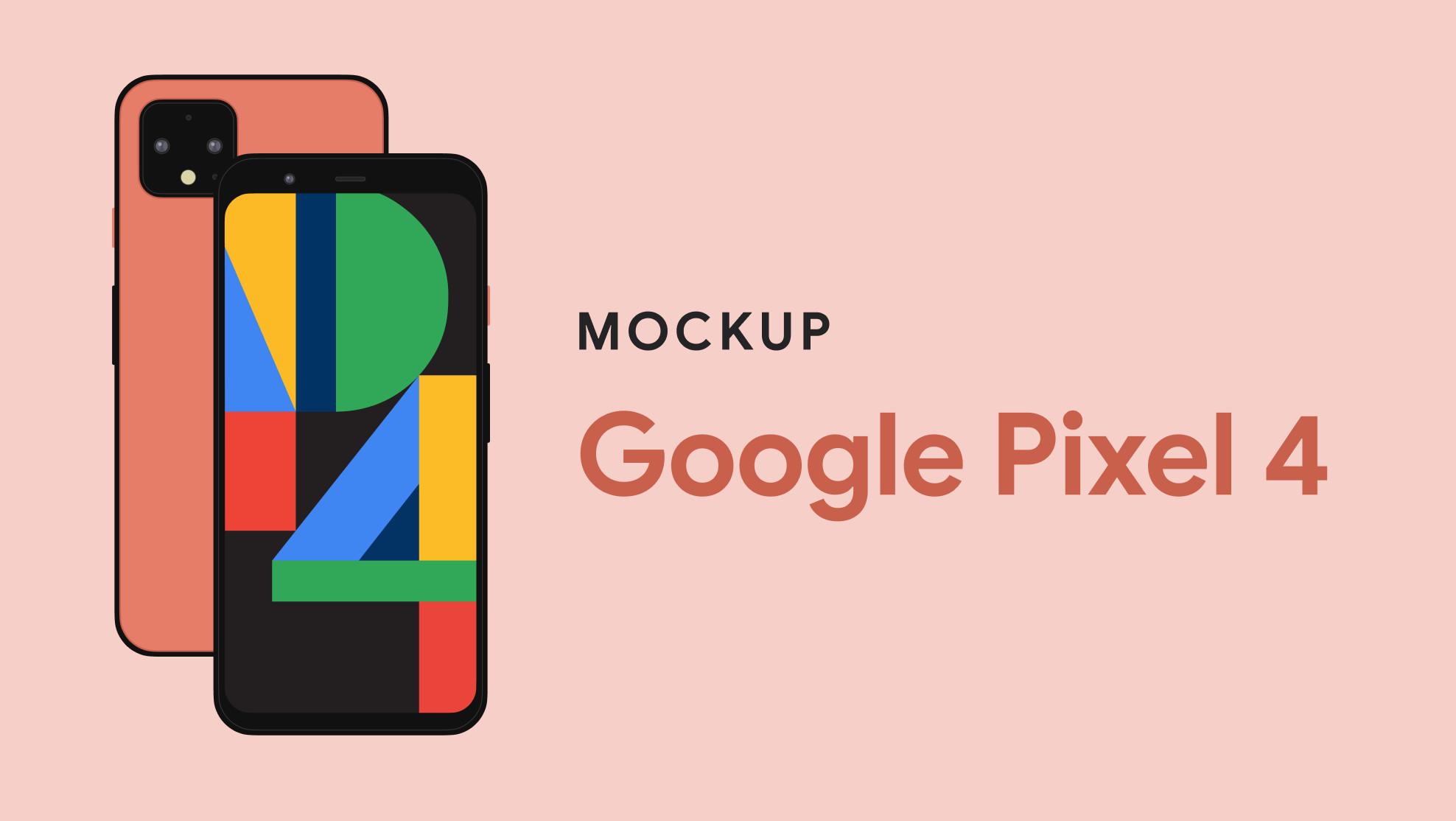 Google Pixel 4 Mockup for Figma