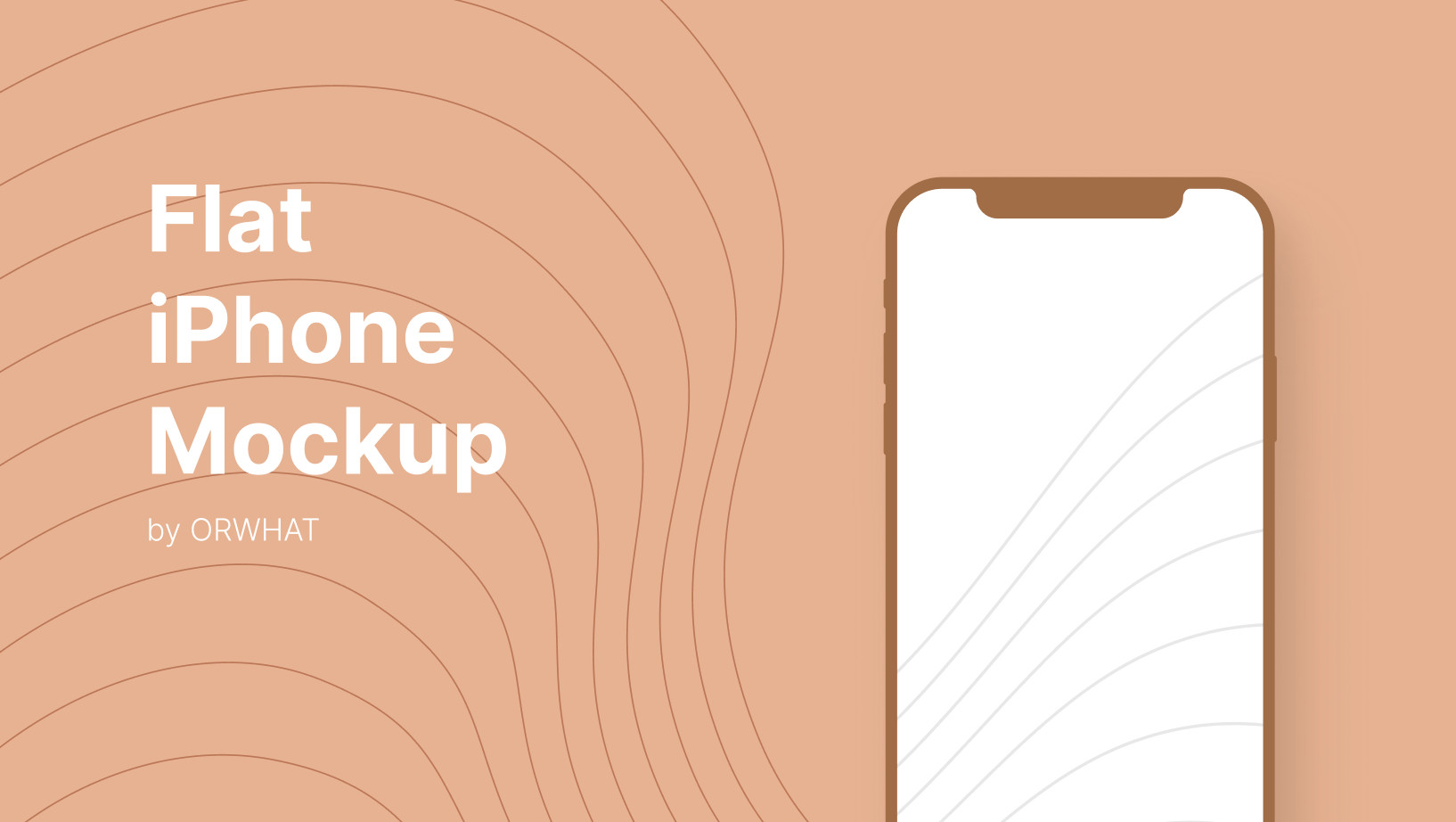Flat iPhone Mockup for Figma