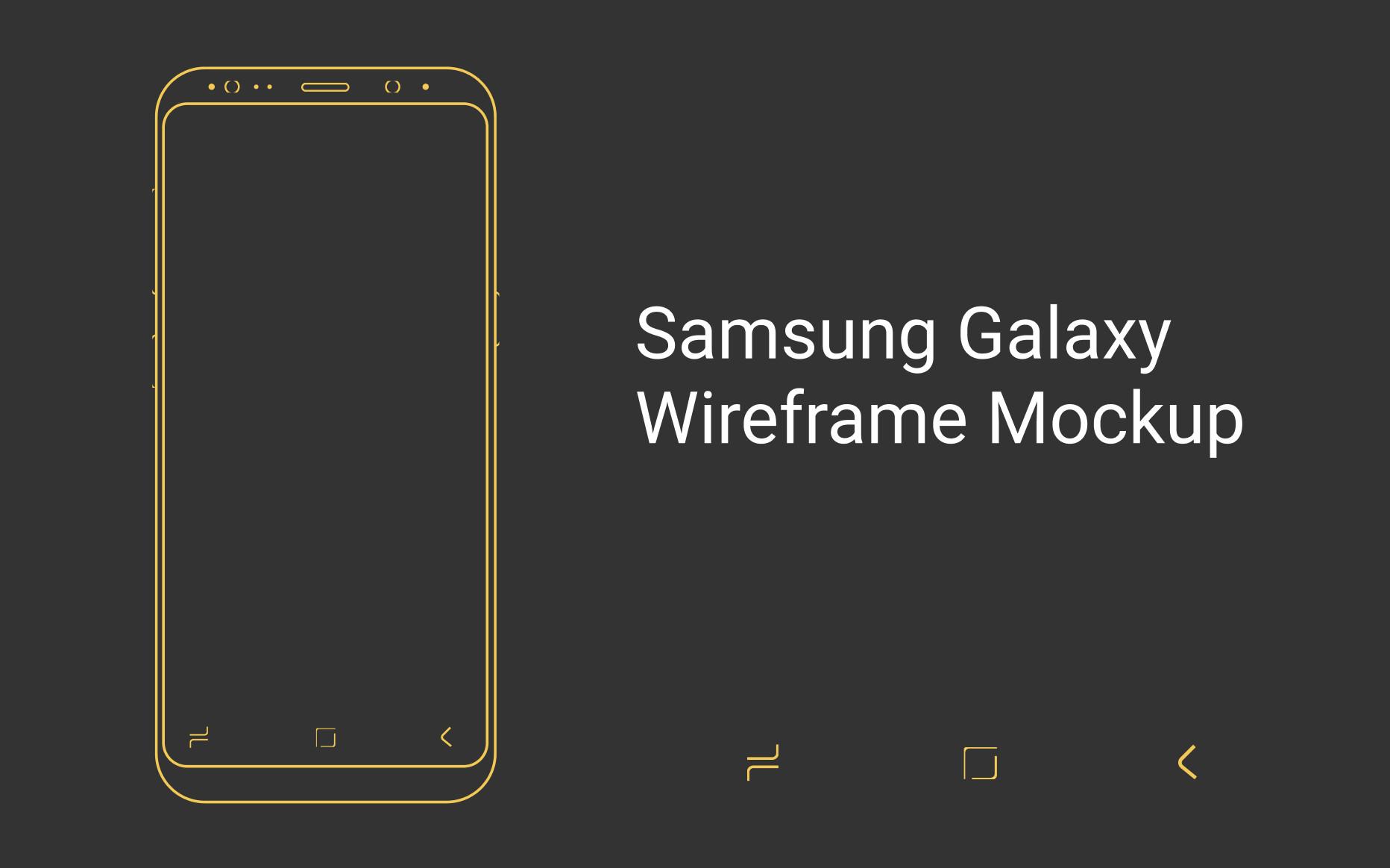Samsung Galaxy Wireframe Mockup for Figma