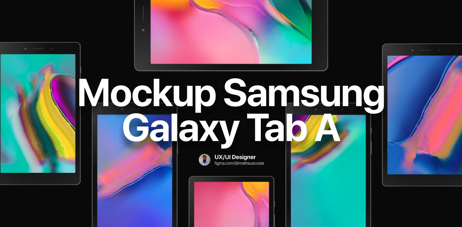 Samsung Galaxy Tab A Mockup for Figma