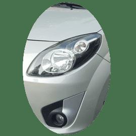 Phare avant gauche Renault Twingo 2 phase 1 noir