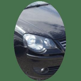 Phare avant droit Volkswagen Polo IV phase 2 noir