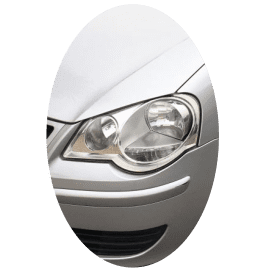 Phare avant gauche Volkswagen Polo IV phase 2 chrome
