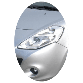 Phare avant gauche Renault Clio 3 phase 2 chrome