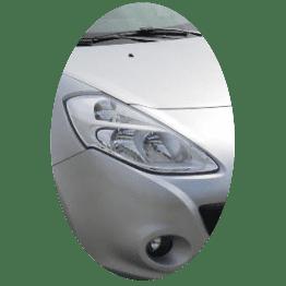 Phare avant droit Renault Clio 3 phase 2 chrome