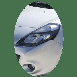 Phare avant gauche Renault Clio 3 phase 2 noir
