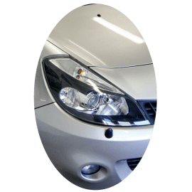 Phare avant droit Renault Clio 3 phase 1 Xenon directionnel noir