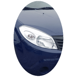Phare avant droit Dacia Sandero phase 1 chrome