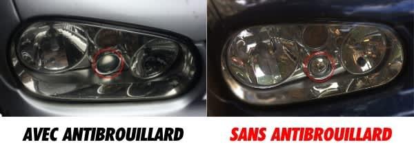 Est-ce que mes phares avant de Volkswagen Golf 4 ont les antibrouillards intégrés ?