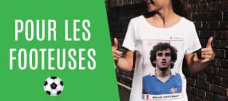 t-shirt femme foot