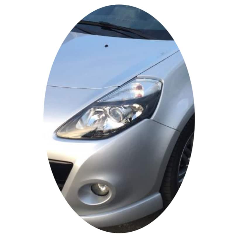 Phare avant gauche Renault Clio 3 phase 2 directionnel noir