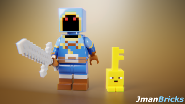 MC Dungeons custom fig - by @jmanbricks