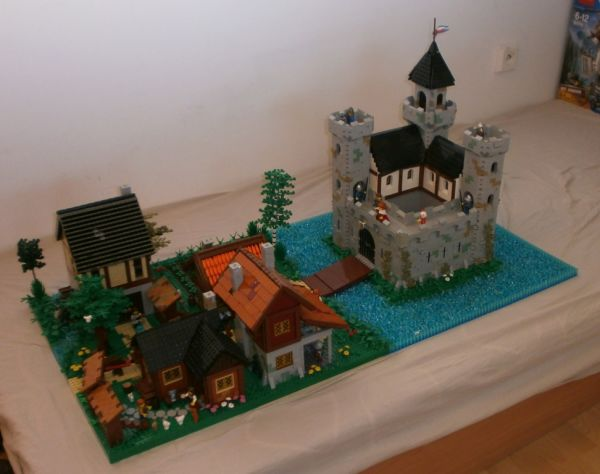 Medieval Village with Castle - by @undefined