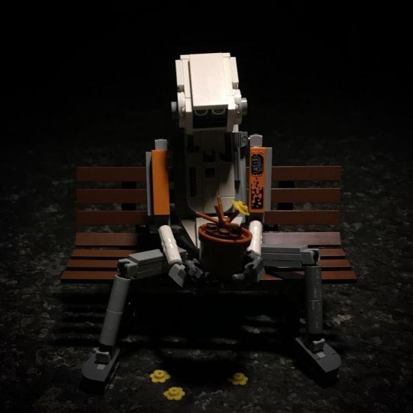 Sad Robot - by Nathan Hake