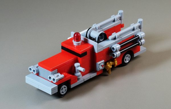 Vintage Fire Truck - by @undefined