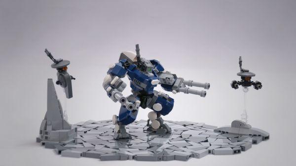 Lego Warhammer 40k Tau Battlesuit - by @undefined