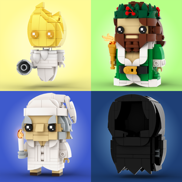A Christmas Carol BrickHeadz - by @undefined