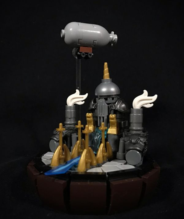 Micro Steam Punk fortress - by Nathan Hake