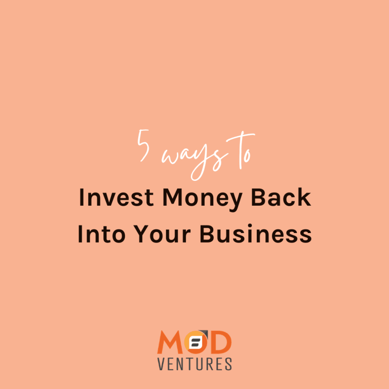 invest money back into your business