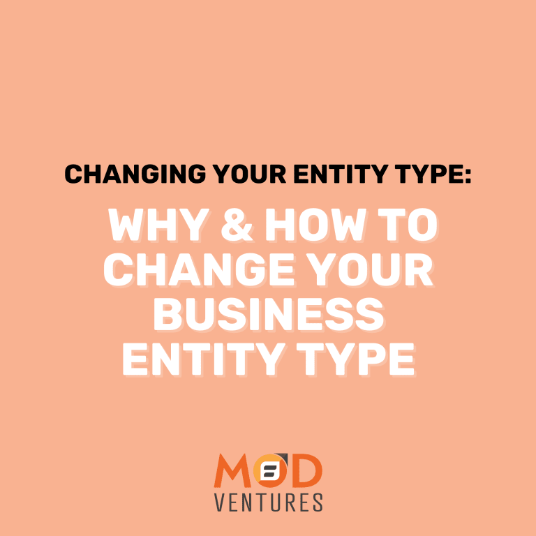 changing your entity type