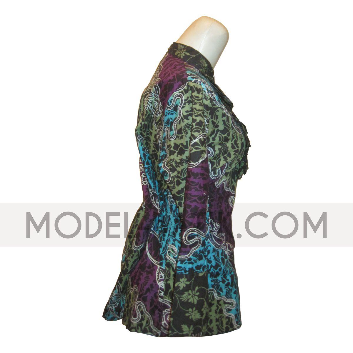 Model Baju Batik Primissima Baju Batik Kerja Wanita Bm W 16